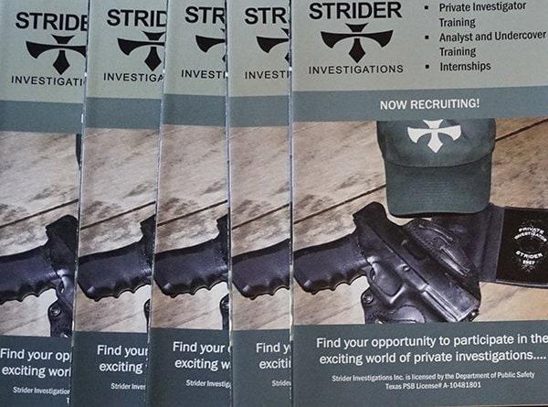 Texas Private Investigators Training | Strider Investigations